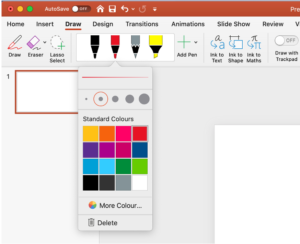 how to draw in powerpoint