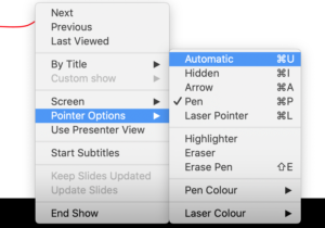 draw onscreen while presenting in powerpoint